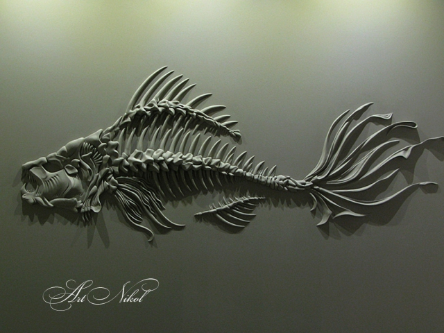Bas-relief Fish