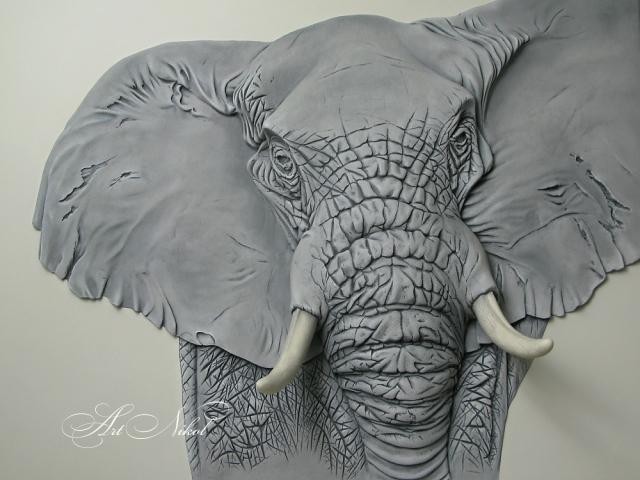 Bas-relief Elephant