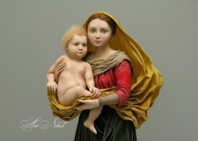 Doll Madonna with a newborn